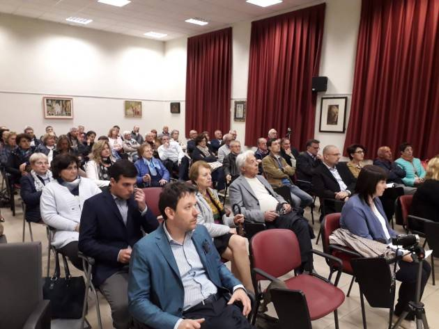 I candidati  lista RinnovaSoresina2019 Diego Vairani Sindaco presentano il programma (Video G.C.Storti)
