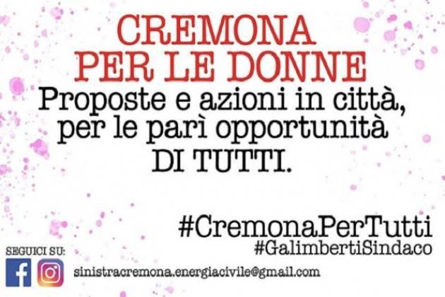 """Mercoledì 15 Maggio l'incontro """"Cremona per le donne"""""""