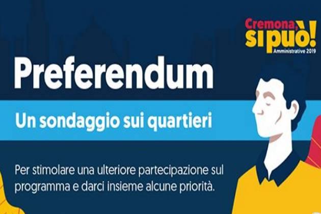 Preferendum: il sondaggio dedicato ai quartieri