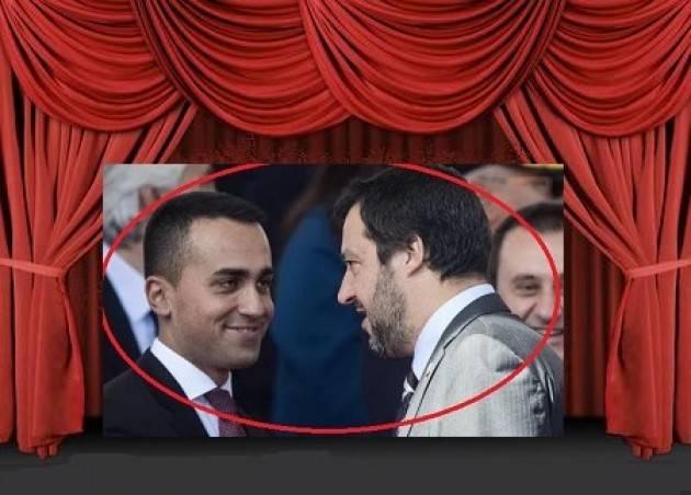 Salvini e Di Maio attori del teatrino della politica  (Elia Sciacca Cremona)