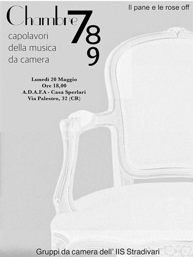 ADAFA Cremona ricorda l'appuntamento musicale di lunedi 20 alle ore 18:00 nella sede di Via Palestro