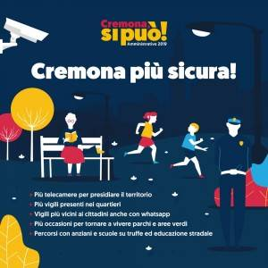 Gianluca Galimberti Cremona, più sicurezza in città Più vigili nei quartieri e coesione sociale