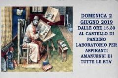 Domenica 2 giugno Laboratorio per aspiranti amanuensi al Castello di Pandino