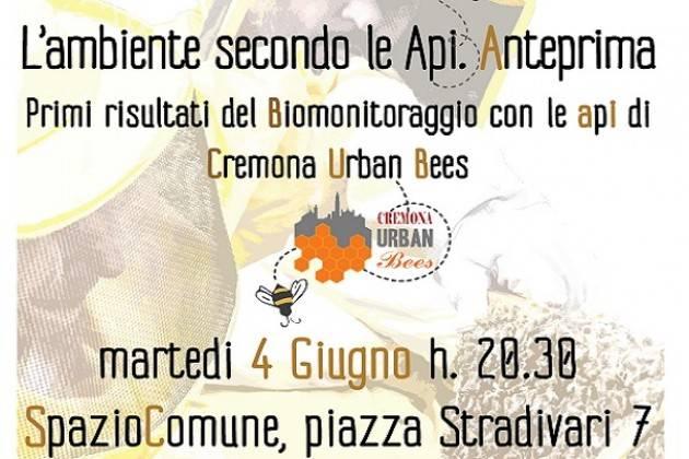 L'ambiente secondo le api: incontro il 4 giugno a SpazioComune