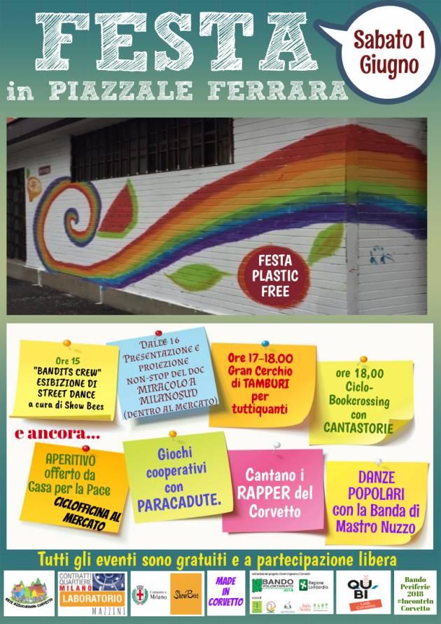 Milano La Casa per la Pace  festeggia il 1° giugno in piazzale Ferrara