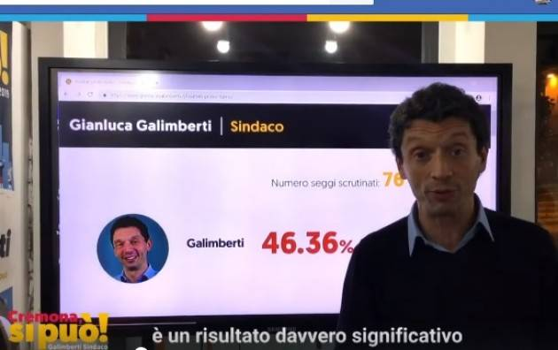 Galimberti ringrazia tutti e chiede un impegno straordinario per vincere il ballottaggio (Video)