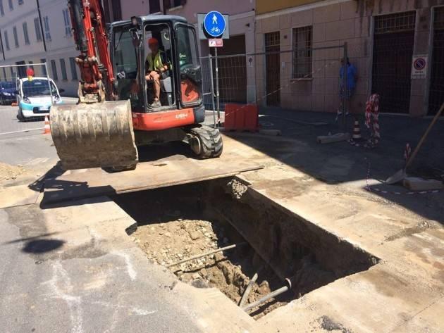 Cremona, Padania Acque : Lavori di allaccio alla fognatura in via Stenico e via Diritta