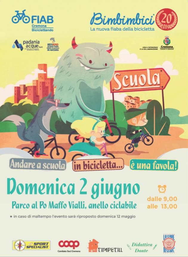 FIAB Cremona Domenica 2 giugno 2019  Bimbimbici compie 20 anni!