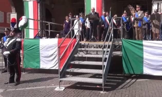 Anche Cremona  celebra la Festa della Repubblica del 2 giugno con una cerimonia in p.zza del Comune