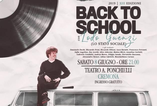 Back to School!, concerto finale l'8 giugno con Lodo Guenzi