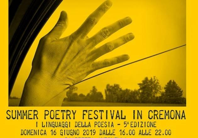 Domenica 16 giugno torna a Cremona il Summer Poetry Festival