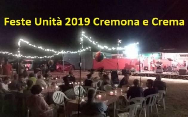 FESTEUNITA'2019   Continua la Festa di Crema ad Ombrianello  fino al 3 settembre