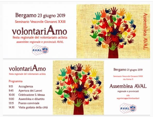 Acli. 23 giugno, a Bergamo l'associazione di volontariato Aval Acli  della Lombardia