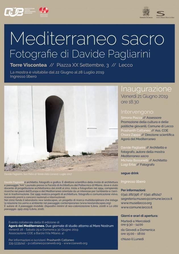 Lecco Mediterraneo sacro: le fotografie di Davide Pagliarini alla Torre Viscontea