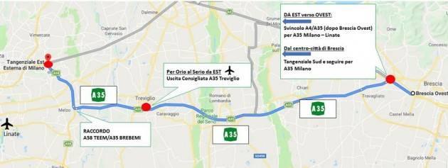 Chiusura A4, domenica 16 giugno. A35 Brebemi assicura collegamenti veloci