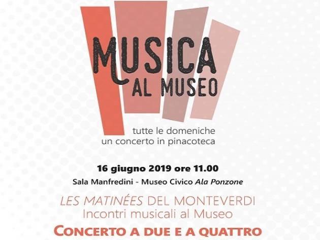 Domenica 16 giugno concerto a due e a quattro per la rassegna Musica al Museo
