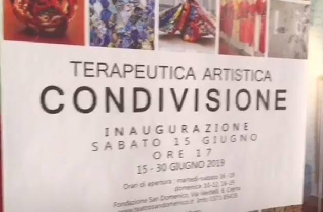 San Domenico di Crema inaugurata mostra arte condivisa (Video E.Mandelli)
