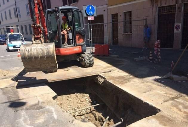 Cremona, Padania Acque :Da martedì 18  Lavori di allaccio alla rete fognaria in via delle Forze Armate