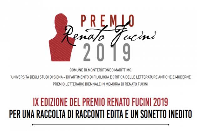 IX Edizione del Premio Renato Fucini 2019