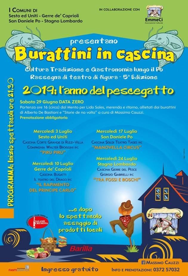 Cremona Anche quest'anno 'Burattini in cascina ' con Massimo Cauzzi