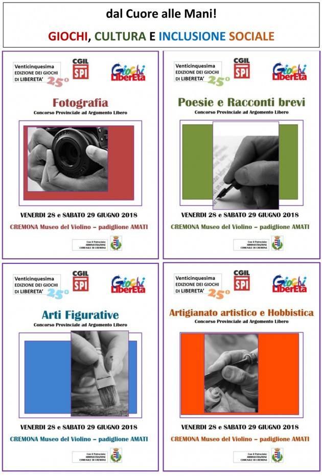 I Giochi di Libertà dello SPI Cgil di Cremona al MDV il 28 e 29 giugno 2019
