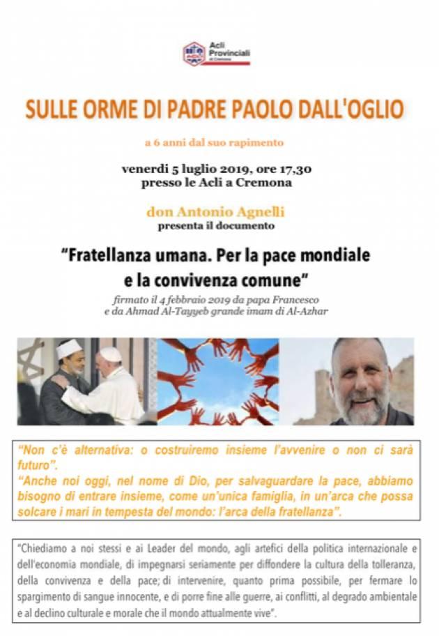 Acli. Padre Paolo Dall'Oglio