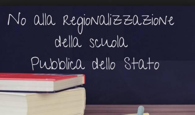 Istruzione Scuola: sindacati uniti Cgil-Cisl-Uil-Snals e Gilda contro l'ipotesi di regionalizzazione