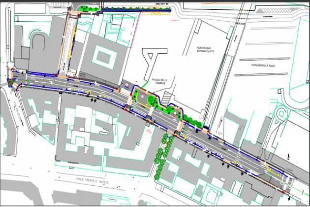 Al via i lavori di riqualificazione di via Dante: 3 corsie, ciclabile e attraversamenti sicuri
