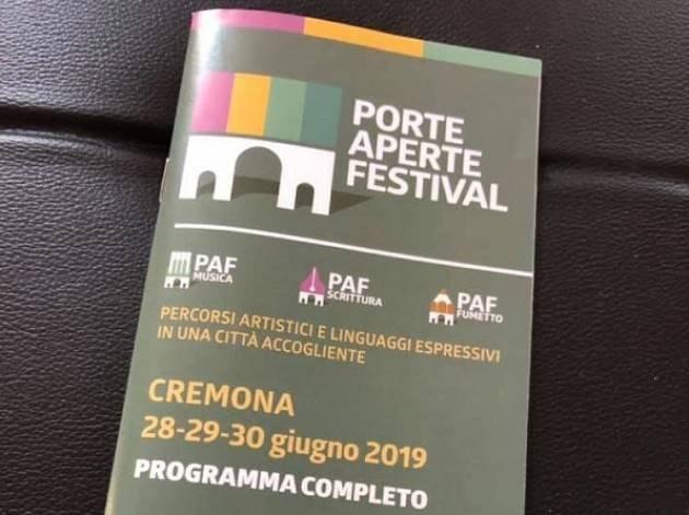 (Video) Cremona Qualche frame del PAF 2019:Gianluca Galimberti,Michele Ginevra, Mariella Cerullo,Luca Burgazzi, Andrea Cisi e Neri Marcorè