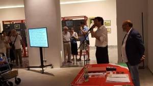 Cremona Gianluca Galimberti ha premiato i vincitori Giochi di Libereta' organizzati dallo SPI-CGIL