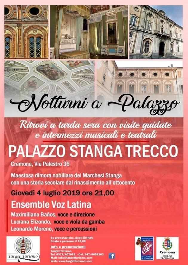 Cremona NOTTURNI A PALAZZO STANGA TRECCO 4 LUGLIO 2019