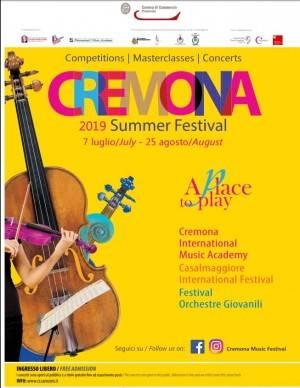 Summer Festival 2019  a Cremona, Crema e Casalmaggiore Eventi 18 e 19  luglio