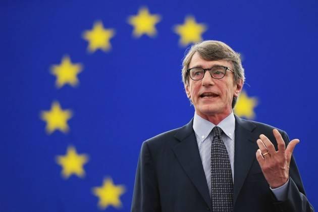 AISE IL PRESIDENTE DEL PARALMENTO UE SASSOLI RENDE OMAGGIO ALLE VITTIME DEL TERRORISMO IN EUROPA