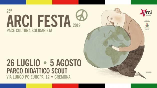 CremonaArciFesta2019  a tutta musica dal 26 luglio al 5 agosto con Kaos & DJ Craim, i Giuda e Any Other