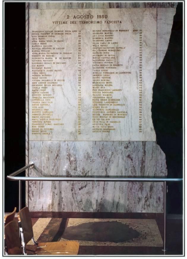 Bologna IL MANIFESTO DEL 39°ANNIVERSARIO DELLA STRAGE DEL 2 AGOSTO 1980