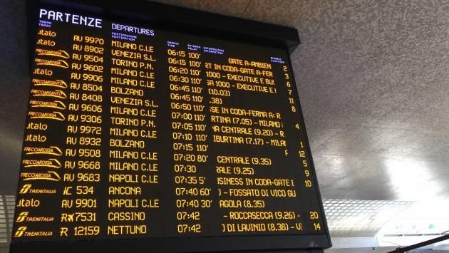 ADUC Blocco ferrovie Roma/Firenze. Indennizzi: non proprio certi. Informarsi
