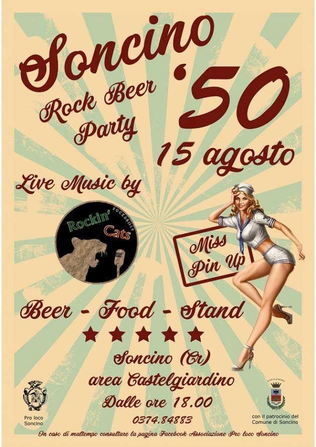 Soncino '50 Rock Beer Party AreaCastelgiardino il 15 agosto