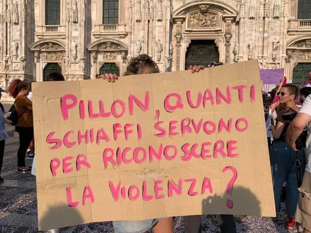 Cgil Lombardia in piazza contro ddl Pillon, rinviata la discussione