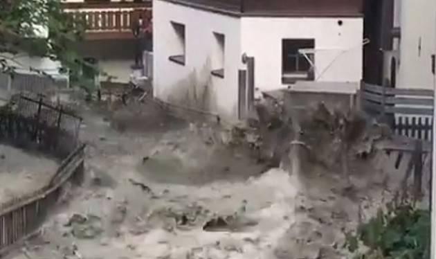 Zermatt, alluvione senza pioggia