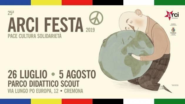 Cremona Stasera venerdì  26 luglio, al via la 25ª Arci Festa 2019 a Parco Didattico Scout
