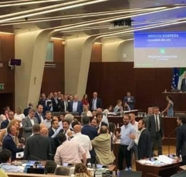 Intervento Piloni (Pd) Spinte ed insulti  UNA BRUTTA PAGINA DEL CONSIGLIO REGIONALE Lombardo