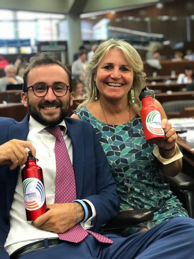 Strada – Lombardi Civici Europeisti: 'Borracce al posto delle bottiglie di plastica nelle scuole superiori'