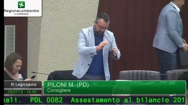 BILANCIO IN REGIONE, PILONI (PD): 'CREMONA ANCORA A BOCCA ASCIUTTA?'