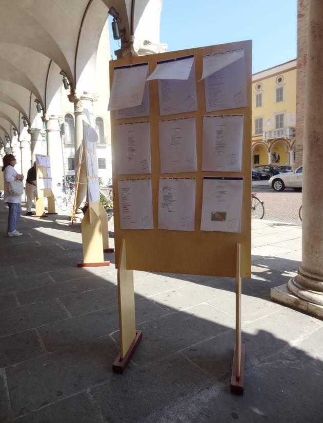Crema 24esima edizione di Poesia A Strappo  intitolata  Mattino : sabato14 e 15 settembre