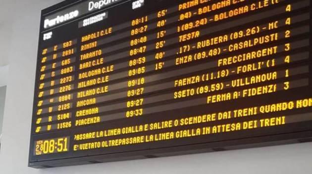 Riepilogo ritardi linea Mantova - Cremona - Milano di Luglio 2019