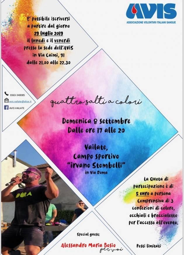 Avis Vailate Manifestazione 'Quattro salti a colori'  domenica 8 settembre