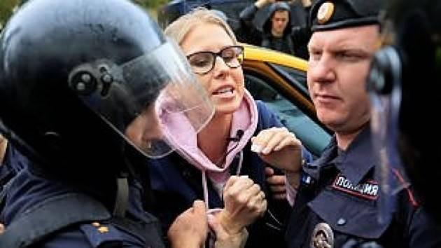 Putin arresta 600 manifestanti a Mosca. Noi siamo con l'attivista Sobol  G.C.Storti