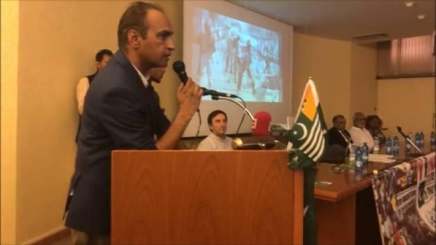 (Video) Shehryar Khan Afridi  da  Cremona chiede la solidarietà per il Kashmir  occupato da 650mila soldati