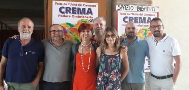 FestaUnità2019 Crema Ombrianello Cinzia Fontana (Pd) : No alle parole d'odio (Video E.Mandelli)