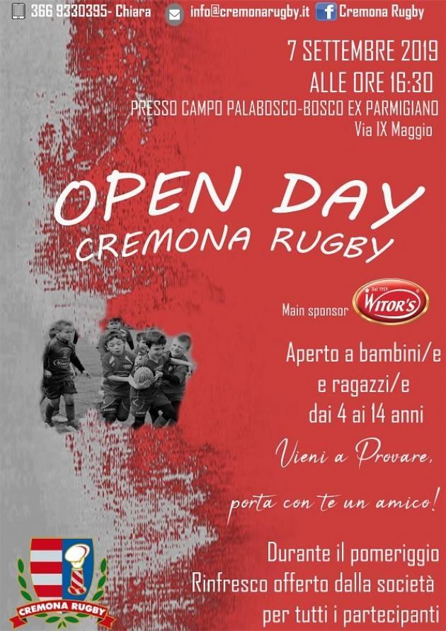 Open Day  Cremona Rugby il 7 settembre